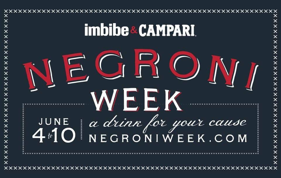Negroni Week – A drink for your cause